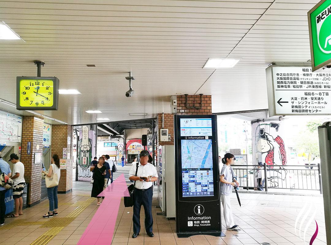 JR福島駅からの道順 1