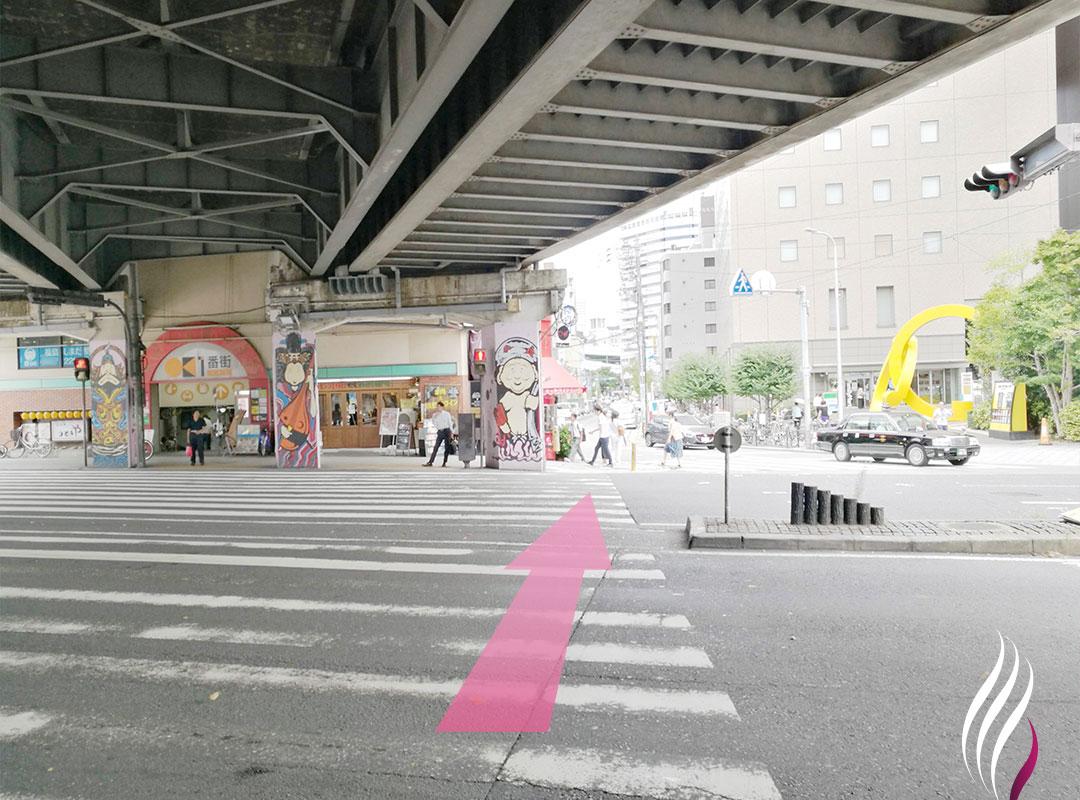 JR福島駅からの道順 2