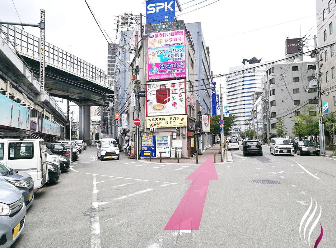 JR福島駅からの道順 3