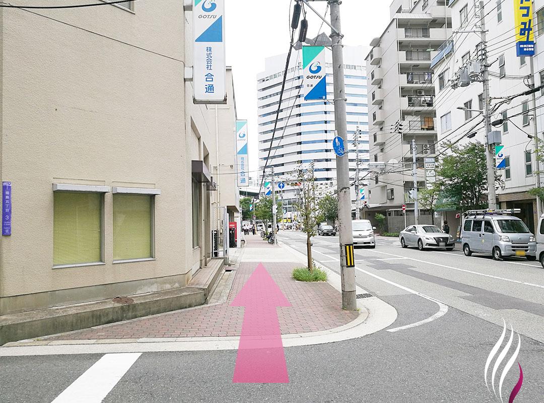JR福島駅からの道順 4