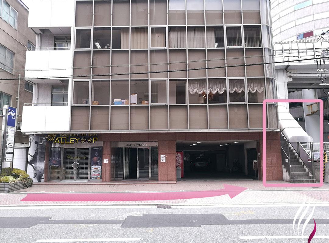 JR福島駅からの道順 5