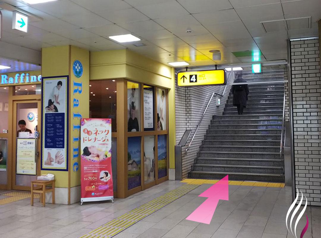 天神駅4番出口からの道順 1