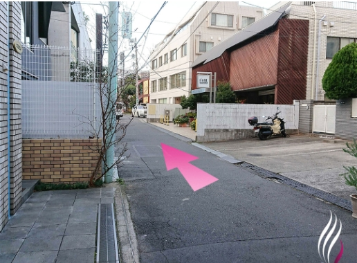 表参道駅からの道順 6