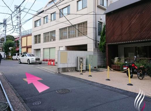 表参道駅からの道順 7