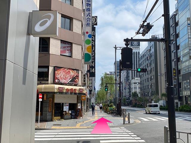 新橋駅からの道順 4