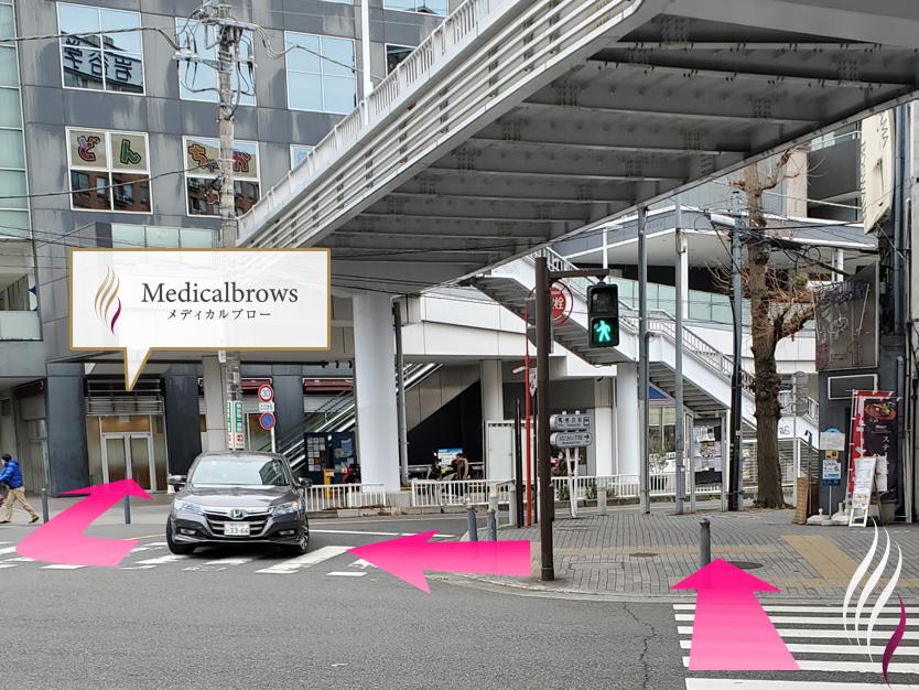 横浜駅からの道順 7