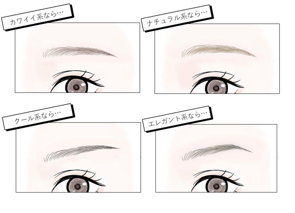 眉毛アートメイクのデザインの決め方!参考になる形・色などを紹介!